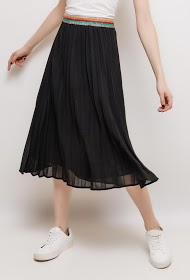 EMMA & ELLA pleated midi skirt