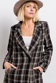 ESCANDELLE checked coat