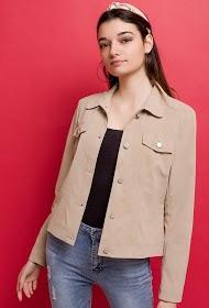 ESCANDELLE basic faux leather jacket