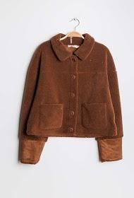 ESCANDELLE plush effect jacket