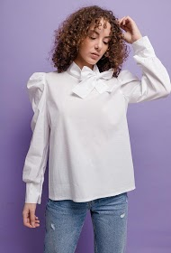 ESTEE BROWN blouse with bow