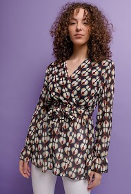 ESTEE BROWN floral blouse