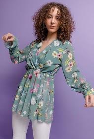 ESTEE BROWN blusa floral