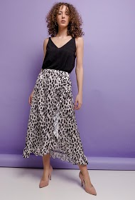 ESTEE BROWN leopard skirt