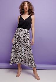 ESTEE BROWN falda de leopardo