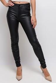 ESTEE BROWN pantalones de cuero sintético