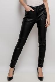 ESTEE BROWN pantalon en similicuir avec doublure polaire