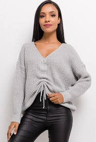 ESTEE BROWN pullover with drawcord
