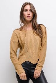 ESTEE BROWN suéter corto trenzado