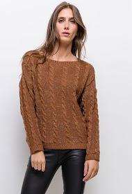 ESTEE BROWN twisted lurex-sweater