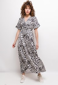 ESTEE BROWN kleid mit leopardenmuster