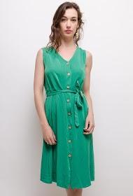 ESTEE BROWN buttoned dress