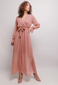 ESTEE BROWN long polka dot dress
