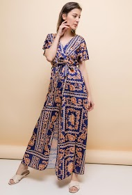 ESTEE BROWN long wrap dress