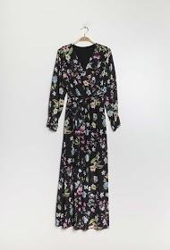 ESTEE BROWN vestido largo floral