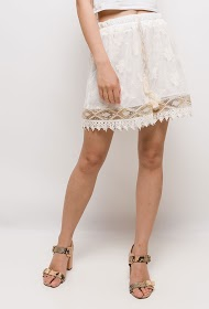 ESTEE BROWN embroidered shorts
