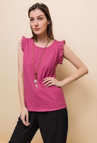 ESTEE BROWN t-shirt with necklace