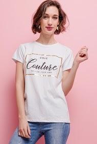 ESTEE BROWN camiseta chic couture