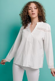 ESTHER.H PARIS blouse with lace detail