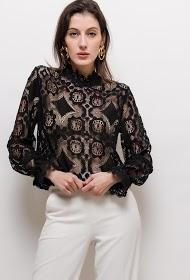 ESTHER.H PARIS transparent lace blouse