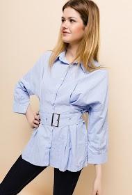 ESTHER.H PARIS belt shirt
