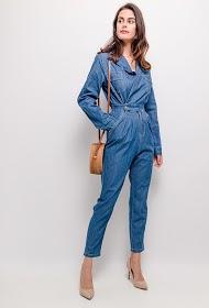 ESTHER.H PARIS macacão jeans