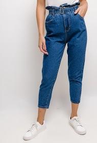 ESTHER.H PARIS jeans mit hoher taille und gürtel