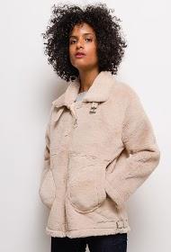 ESTHER.H PARIS manteau aviateur en fourrure