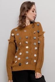 ESTHER.H PARIS camisola com lantejoulas