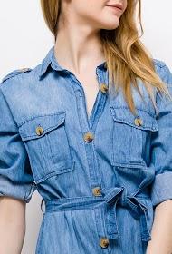 ESTHER.H PARIS denim shirt dress