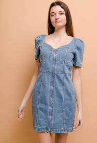 ESTHER.H PARIS denim dress