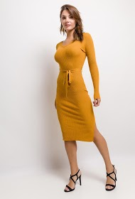 ESTHER.H PARIS knitted dress with belt
