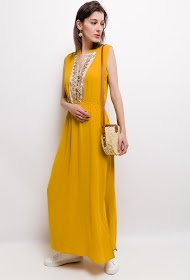 ESTHER.H PARIS long dress with embroidery