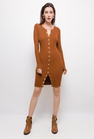 ESTHER.H PARIS sweater dress with decorative buttons