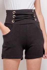 ESTHER.H PARIS shorts com renda