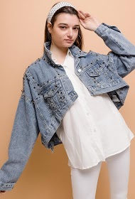 ESTHER.H PARIS short denim jacket