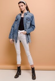 ESTHER.H PARIS ripped denim jacket