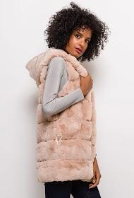 ESTHER.H PARIS fur sleeveless jacket