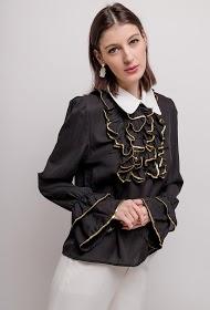 FLAM MODE ruffled blouse