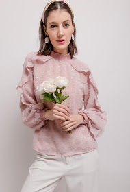 FLAM MODE textured blouse