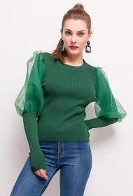 FLAM MODE puff sleeve sweater