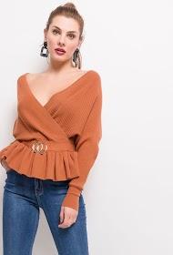 FLAM MODE wrap sweater