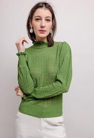 FLAM MODE fine openwork sweater