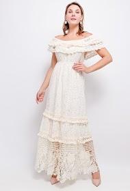 FLAM MODE robe bohème avec dentelle