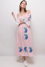FLAM MODE embroidered dress