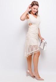 FLAM MODE robe en dentelle