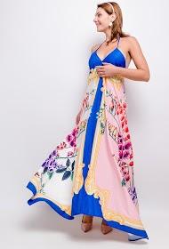 FLAM MODE robe longue imprimée
