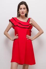 FLAM MODE ruffled dress