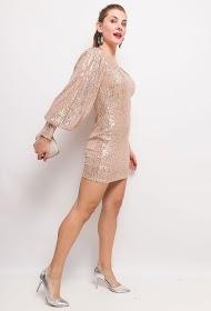 FLAM MODE sequin dress