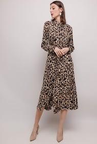 FLAM MODE printed midi dress